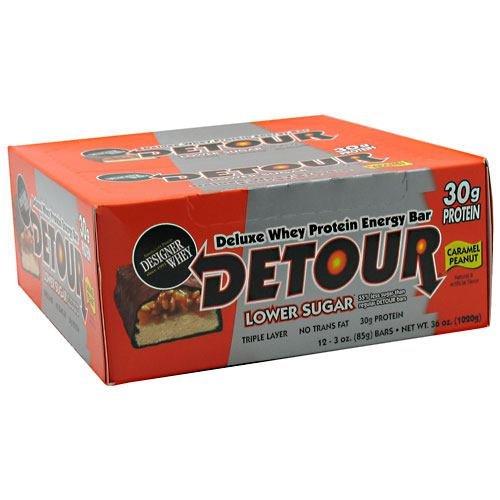 Forward Foods Deluxe Whey Protein Energy Bar Caramel Peanut 12-3oz. (85g) bars 36 oz. (1020g) -
