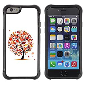 Hybrid Anti-Shock Defend Case for Apple iPhone 6 4.7 Inch / Beautiful Autumn Tree Leaves