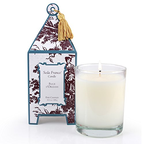 Seda France Classic Toile Pagoda Box Candle, Figue D'Orleans, 10.2 Ounce