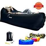yeacar Inflatable Lounger Air Sofa, Portable Waterproof Indoor or Outdoor Inflatable Couch for Camping Park Beach