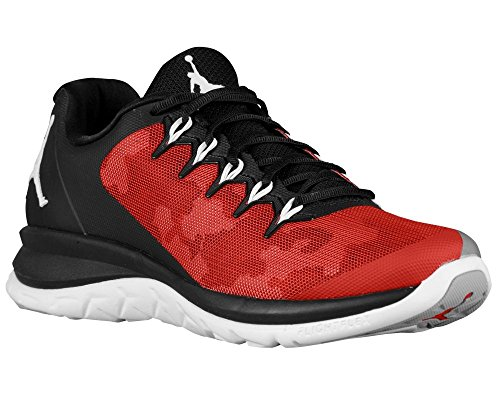 Jordan Mens Flight Runner 2 Zwart Rood Athletic Basketbalschoenen Sneakers (9.5)