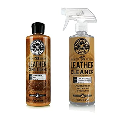 Chemical Guys SPI_109_16 Leather Cleaner and Conditioner Complete Leather Care Kit (16 oz) (2 Items)