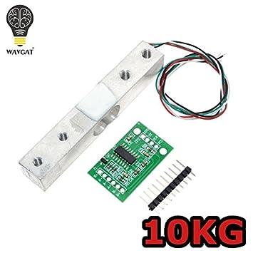 WAVGAT - Sensor digital de carga de 5 kg de peso, báscula de cocina electrónica portátil + módulo de anuncio de sensores de pesaje HX711: Amazon.es: ...