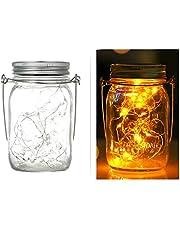 1PCS Mason Jar Light, INS, Solar,LED Lid Inser and Handle Included,20 Led Bulbs,2M Long,Warm White