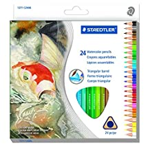 STAEDTLER Watercolour Pencil, 24 Pack (1271 C24A6)