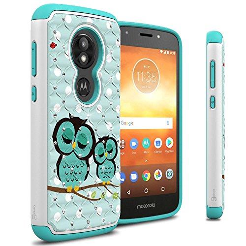 CoverON Hybrid Dual Layer Bling Aurora Series for Motorola Moto E5 Play/Moto E5 Cruise Case, Cute Owl
