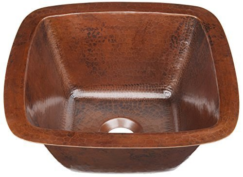 Sinkology P1U-1212BC Pollock Undermount Handmade Pure Solid 0-Hole Bar Prep Sink, 12'', Aged Copper by Thompson Traders, Inc. by Thompson Traders
