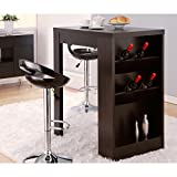 MODERN, Contemporary Wine Bar Furniture for Your Home! Retro, Elegant, Black Stylish Mini Bar Table for Kitchen, Patio & Basement! Multi Functional, Mobile, Works both Indoor & Outdoor. Great Gift Ideas for Men, Women, Guys, Girls, Mom & Dad, Weddings!
