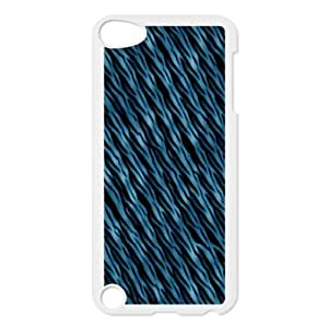Ipod Touch 5 Cases Blue Abstract Waves, Abstract Wave Cases Jumphigh, {White}