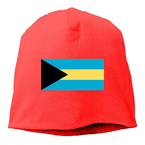 Matthew Schrock Christmas Gift ! Custom Bahamas Flag Unisex Cotton Hedging Hats Beanies Caps Sleep Cap For Women MenRed