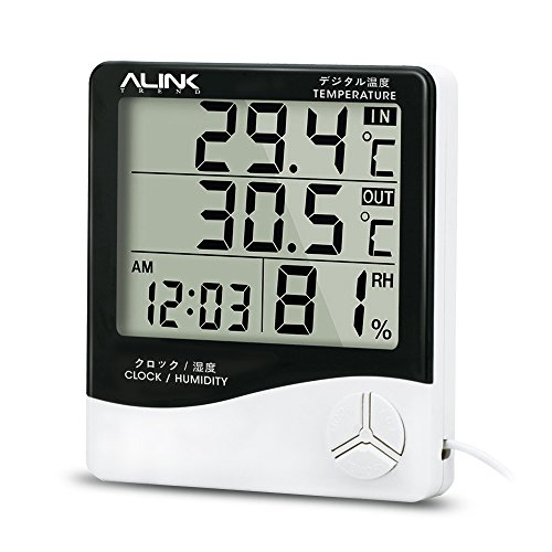 Alinktrend-High-Accuracy-Thermometer-Hygrometer-TP331D-All-in-one-Memory-Digital-Wireless-Electronic-hygro-thermometer-Timer-Temperature-and-Humidity-Meter-Alarm-Clock-Probe-for-Indoor-and-Outdoor
