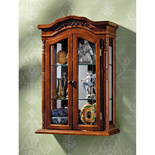 Design Toscano Display Cabinet - Beacon Hill - Wall Mounted Curio Cabinet (Mirrored Traditional Cabinet)