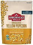 Arrowhead Mills Organic Yellow Popcorn, 28 oz. Bag (Pack of 6)