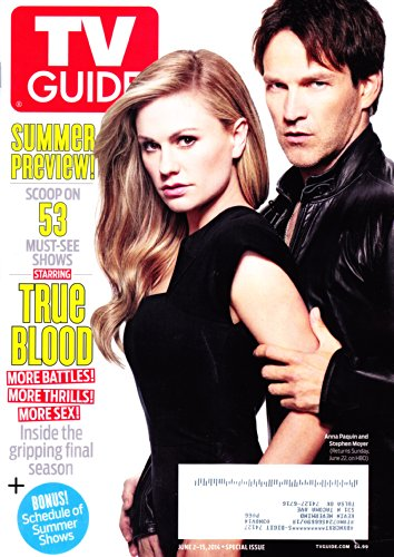 * SUMMER PREVIEW ISSUE * Anna Paquin and Stephen Moyer (True Blood), Alison Sweeney (Days of Our Lives) - SPECIAL DOUBLE ISSUE TV Guide Magazine