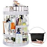Famitree Makeup Organizer 360 Degree Rotating Acrylic Perfume Organizer, Adjustable Makeup Storage,7 Layers Large Capacity Cosmetic Storage Display Case for Vanity and Bathroom - Plus Size
