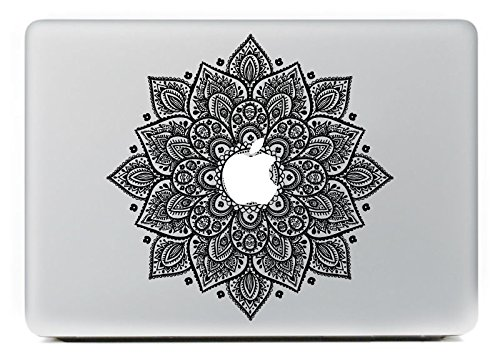 NetsPower® Bunte Muster Vinyl Decal Sticker Abziehbild Abziehbilder Aufkleber Power-up Kunst Schwarz für Apple MacBook Pro/Air 13