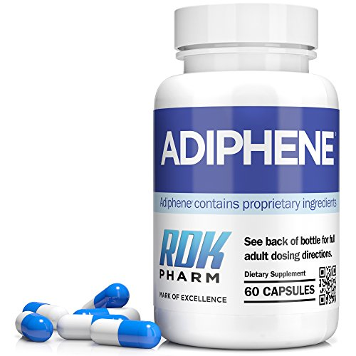 Adiphene Fat Burner and Weight Loss Pills With 12 Fat Burner Ingredients 60 Caps / 1 Month Supply