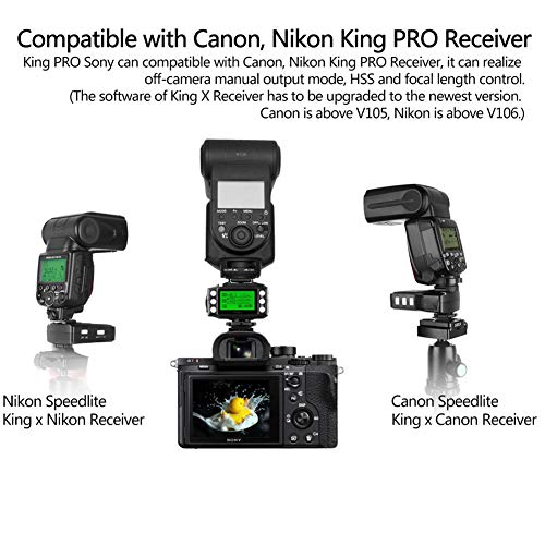 Pixel King Pro Flash Trigger,1/8000s 2.4Ghz,TTL HSS LCD Screen,Transceivers with PC Port for Sony Mi Shoe Cameras A7 A7R A7RII A6300 A65 A77II RX10III and Strobe Studio Light by PIXEL (Image #5)
