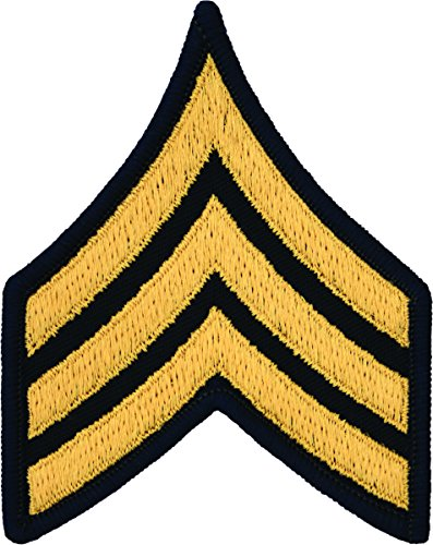Sergeant E-5 Army Chevrons - Gold on Blue (Male) Army Blue Uniform