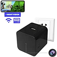 Spy Camera - Hidden Camera - Home Security Camera - Wifi Camera - Nanny Spy Cam - Night Vision Camera with Motion Detector - Wireless Ip Camera System - Small Spy Cameras - Usb Wall Charger Camera