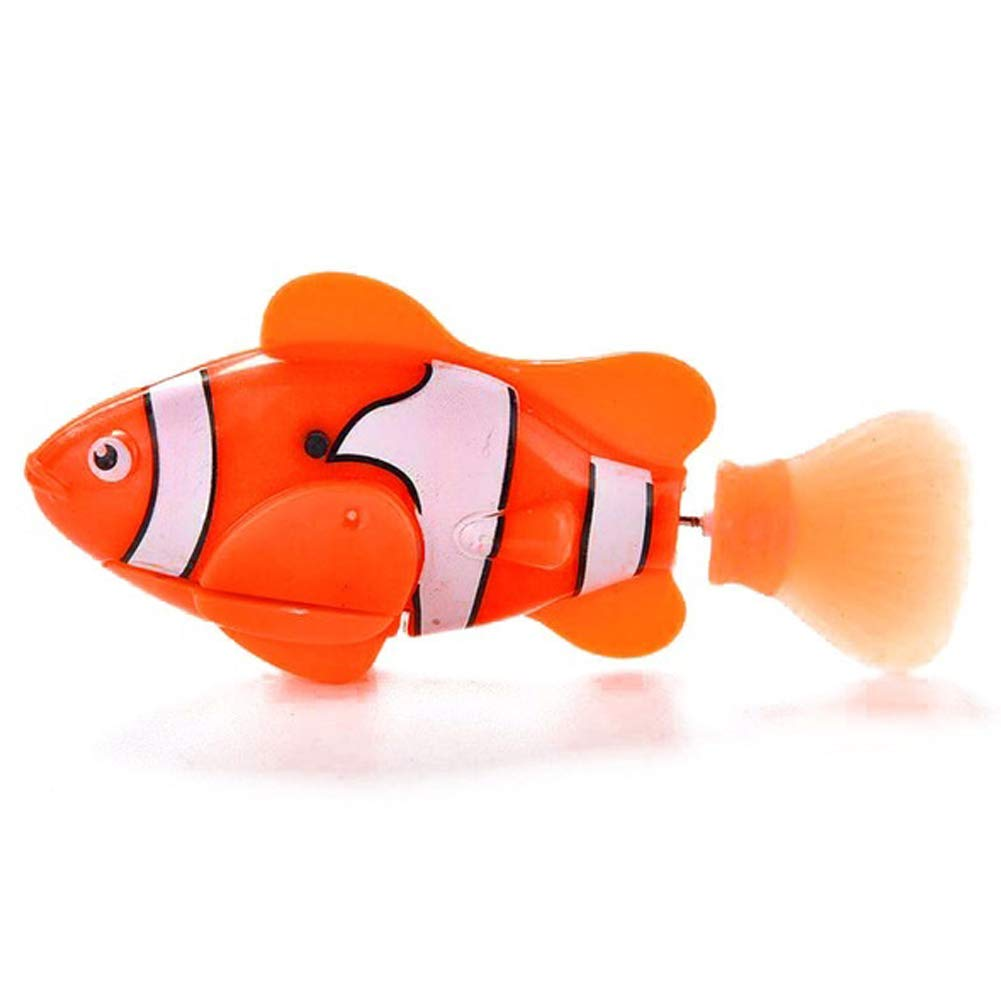 YOUNICER Juguete electr/ónico Mini Robotic Fish Nataci/ón Activado a Bater/ía