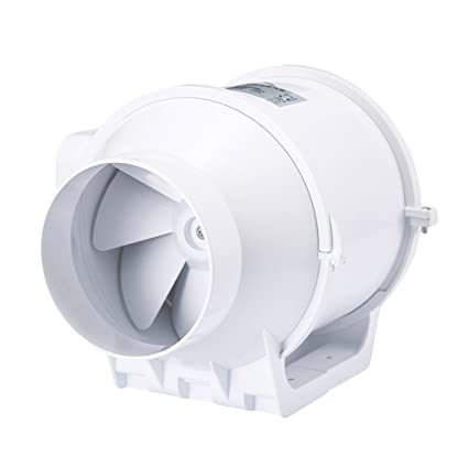 Honu0026Guan 4 Inch Extractor Fan High Efficiency Mixed Flow Ventilation System  Exhaust Air For Bathroom Kitchen