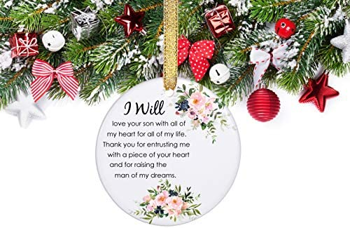 Amazon Com Prjoyint Wedding Ornament Gift For Mother Of The Groom Perfect Mother In Law Gifts From Daughter In Law I Will Love Your Son With All Of My Heart And Thank