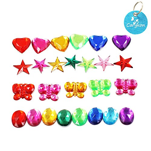 (Carykon Colorful Acrylic Diamond Crystals Gems Jewels for Table Scatters Vase Fillers Event Wedding Party Birthday Decoration Pirate Treasure-Pack of 200, 4 Patterns)