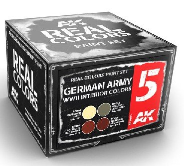 Real Colors: German Army WWII Interior Acrylic Lacquer Paint Set (4) 10ml Bottles