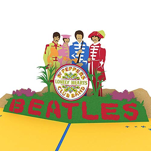 Lovepop The Beatles Sgt. Pepper's Lonely Hearts Club Band Pop Up Card, Father's Day Card, 3D Card, Beatles Cards, Greeting Card, Pop Birthday - Card Out Heart Pop