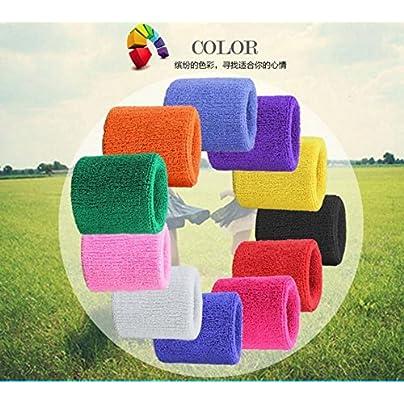 Ranvi Unique Sports Multi Color Pack Confortable Sports Wristbands Wristbands Per Pack Estimated Price £11.62 -