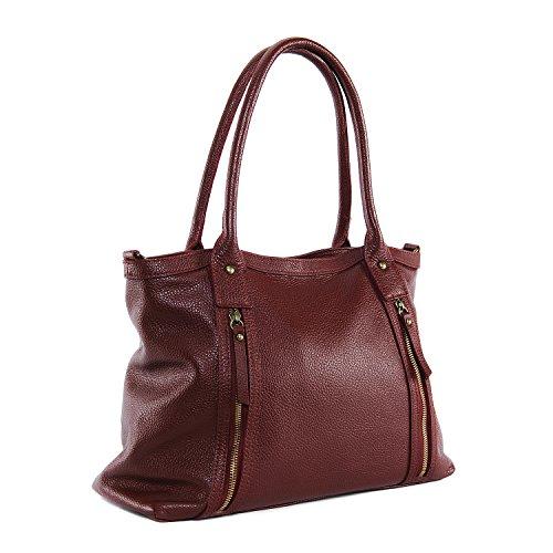 Modèle Main BAG MY Fonce OH à cuir Sac femme Rangoon Rouge I0HTq