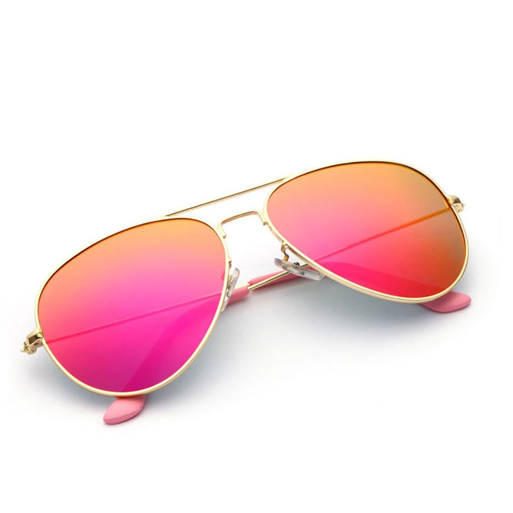 gold Frame Pink XINGZHE Sunglasses  Polarized, UVResistant, Large Frame, Stylish and colorful, Ladies Shopping, Driving, Street Shooting, a Total of 8 colors to Choose from Sunglasses (color   gold Frame orange)