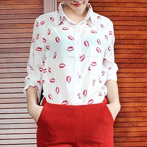 Soie feuillettent Longues de Lady Shirt 2 lvres Chemisier Manches T col Mousseline Fighting en Femmes A0qUTU