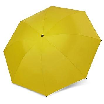 Paraguas de Viaje Secado Rápido Paraguas Automático Plegable Paraguas Portátil a Prueba de Viento (Color