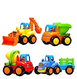 Unbreakable Engineering Automobile Construction Car Machine Toys Set For Children Kids Tractor Trolly, Trucks and Jcb Machine (Set Of 4), Multi Color