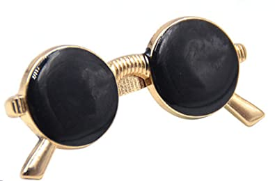 94e128402d2f Mens Novelty Glasses Shape Tie Clip Golden Sunglasses Tie Bar Clasp Clip  Pin 1 Pc