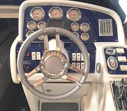 "Isotta CARLOTTA 13-3/4"" Steering Wheel - Silver Carbon Fiber"