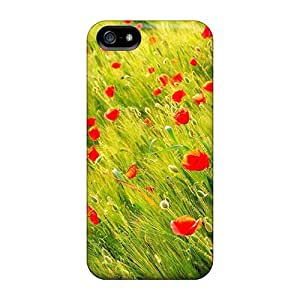 New Mother S Day Beautiful Flower Poppies Tpu Case Cover, Anti-scratch PChSP11933nSrnn Phone Case For Iphone 5/5s