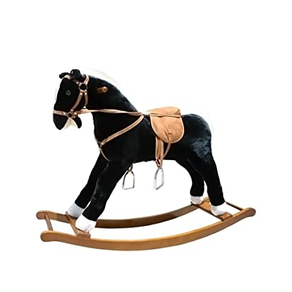 amazon com large rocking horse with sound effects toys games