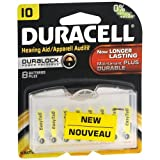 Duracell Hearing Aid Batteries, 10 8 ea