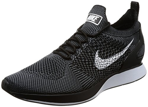 Nike Men Air Zoom Mariah Flyknit Racer Black White-Dark Grey Size 10.5 US by NIKE