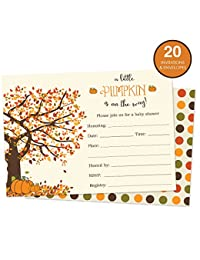 Pumpkin Baby Shower Invitations Fill In Style 20 Count BOBEBE Online Baby Store From New York to Miami and Los Angeles