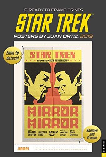 Star Trek Posters by Juan Ortiz 2019 Calendar