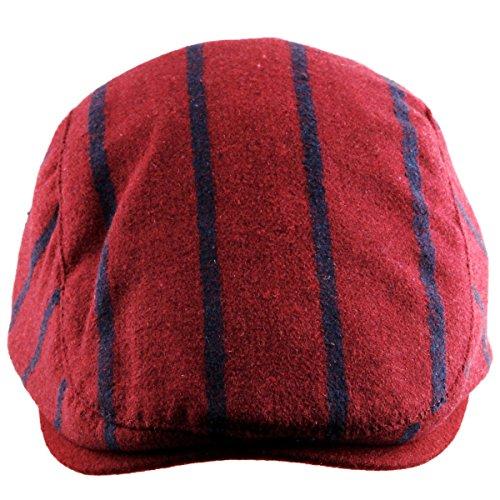Moonsix Newsboys Hats for Men Women,Warm Flat Top Berets Hat Ivy Cap(03-Red(Woolen)) - Mens Hat Beret With Brim