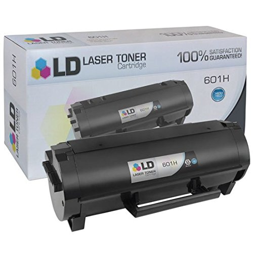 LD © Compatible Replacement for Lexmark 60F1H00 (601H) HY Black Toner Cartridge for Lexmark MX310dn, MX410de, MX510de, MX511de, MX511dhe, MX511dte, MX610de, MX611de, MX611dhe, & MX611dte