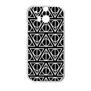 Simple black triangle pattern Cell Phone Case for HTC One M8 by supermalls