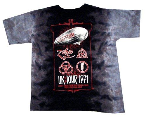 Tongue Tie Dye Shirt (Liquid Blue Men's UK Tour 1971 T-Shirt, Tie Dye, XX-Large)