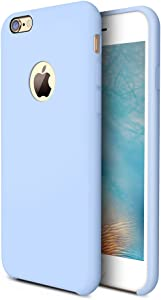 TORRAS [Love Series iPhone 6S Plus Case/iPhone 6 Plus Case, Liquid Silicone Rubber Gel Soft Microfiber Cushion Shockproof Case Compatible with iPhone 6 Plus/iPhone 6S Plus, Light Blue