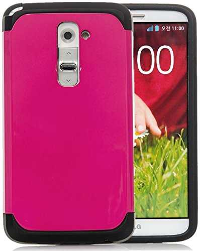 LG G2,iSee Case (TM) LG G2 Case Luxury Tuff Super Armor Hybrid Dual Layer Protective Cover for T-Mobile AT&T Sprint LG G2 (G2-Tuff Armor Pink) (Lg Case Phone G2 Unique)